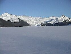 Garibaldi Lake - completely frozen over